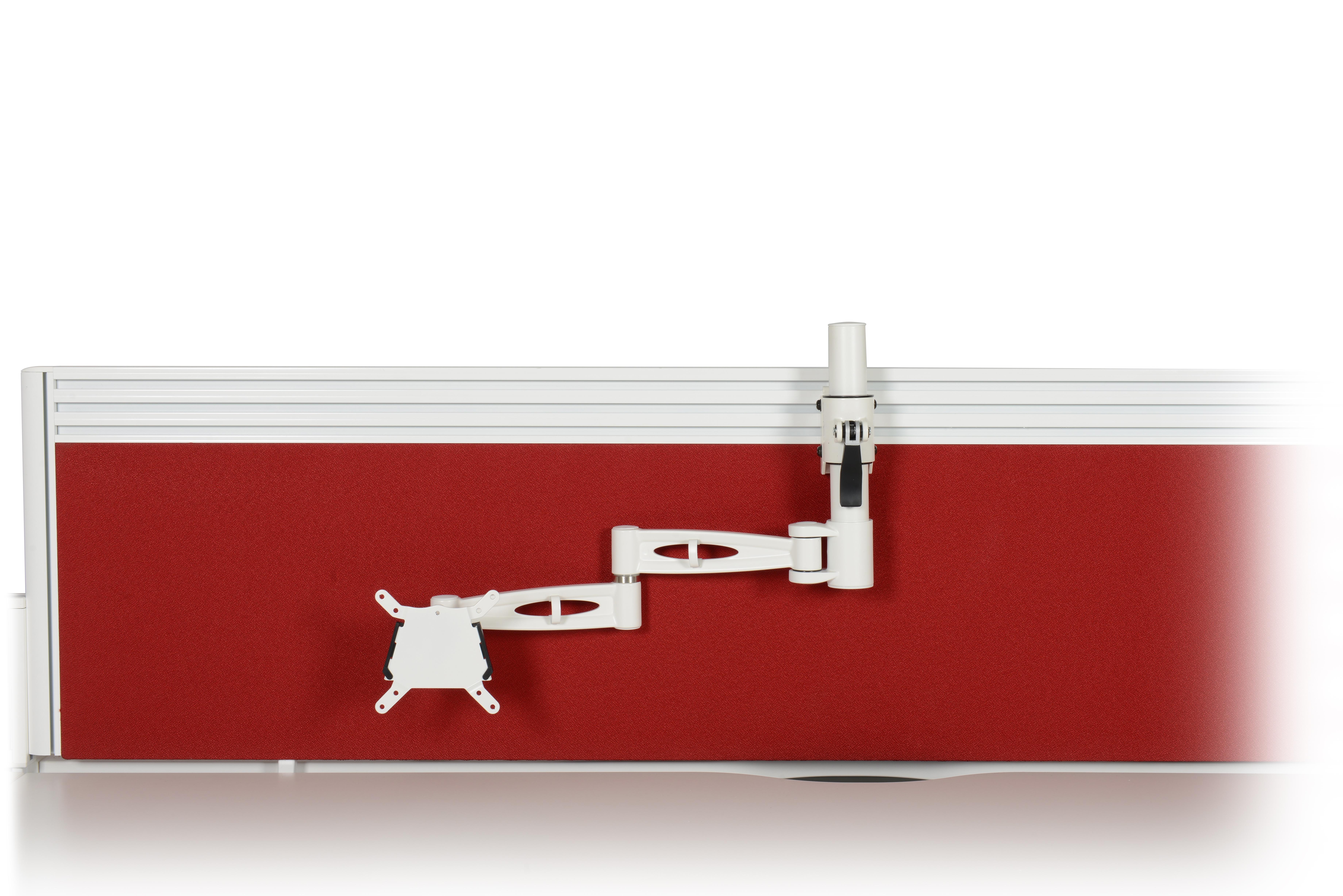 Kardo Tool Rail Mounted Pole Monitor Arm for single screen