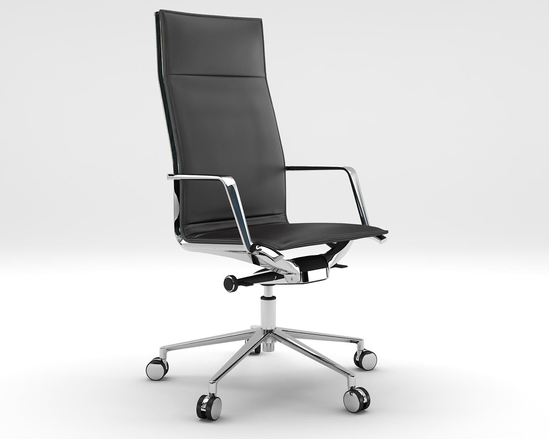Aluminia Leather Executive Chair