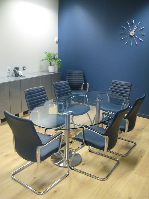 Dual Conference Table Margolis Furniture - Oval glass conference table