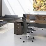 Fulcrum CE - Single Pedestal Executive Desk