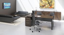 Fulcrum CE - Single Pedestal Executive Desk