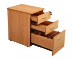 DHP438 Beech Drawers Open