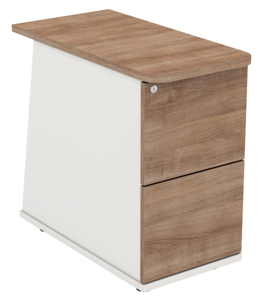 Desk High Pedestal - 2 Drawer - Ascend Range