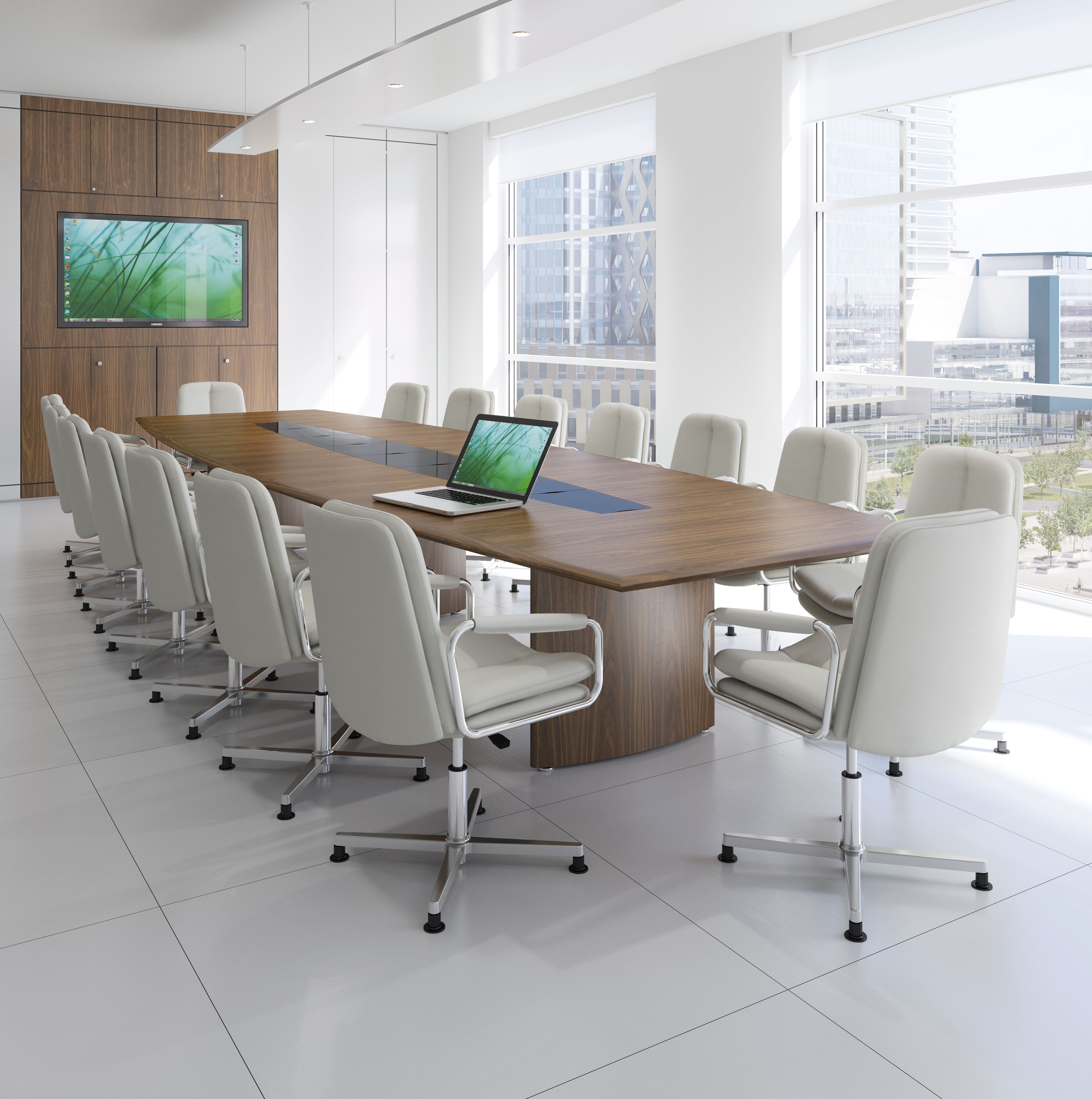 Fulcrum - Conference Table - Barrel Shape
