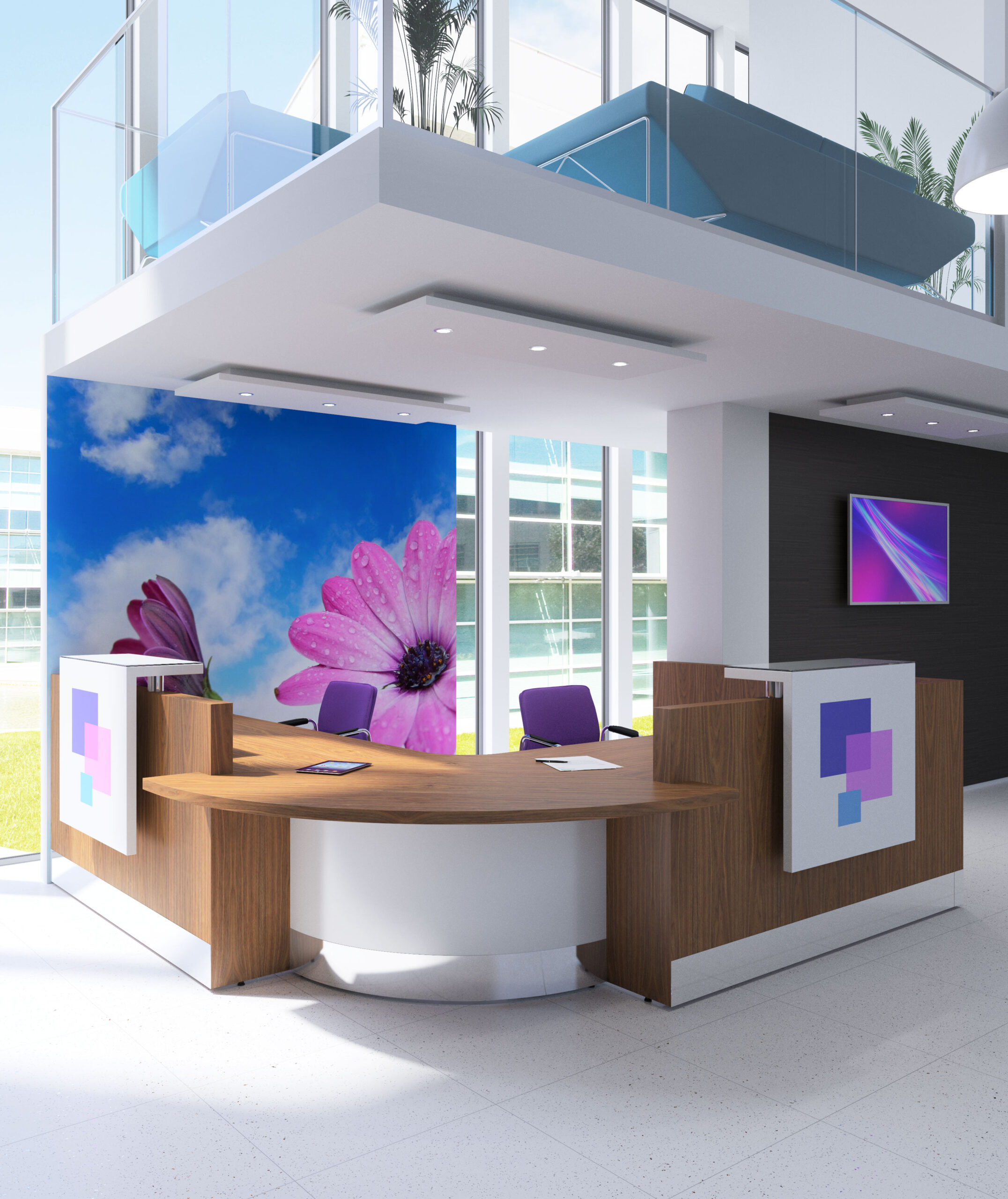 Fulcrum Pro - Reception Desk with Customer Contact Point