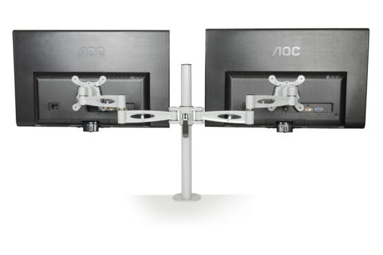 Kardo Pole Mounted Monitor Arms for twin screens
