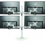 Kardo Pole Mounted Monitor Arms for quad screens