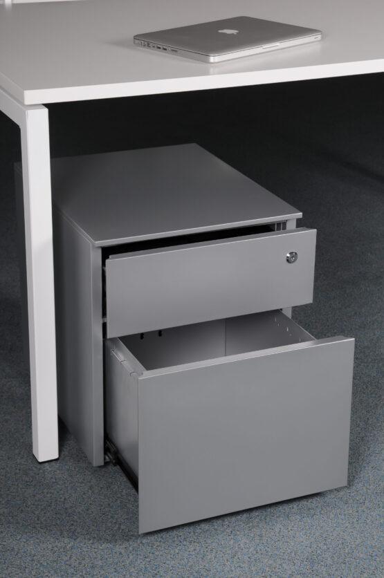 Steel Low Mobile Pedestal 1 Personal drawer 1 File drawer