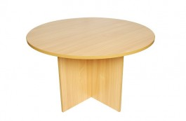 RT 120 Round Table with Arrowhead Base - Beech