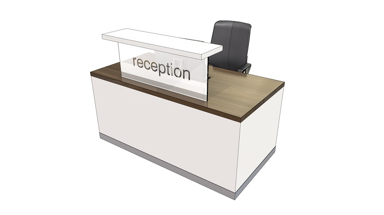 Classic Compact Reception Desk