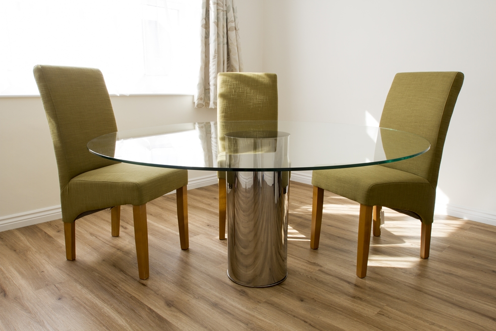 Cylinder Large Round Mirror Dining Table