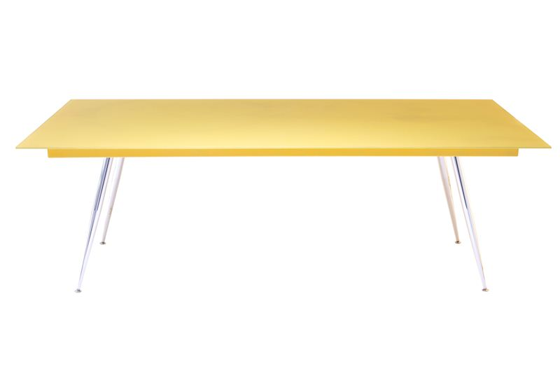 Coloured Glass Frame Office Table