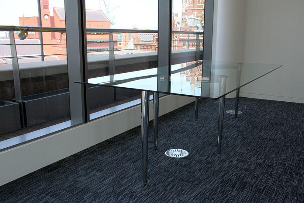 Zig Zag Glass Meeting Table