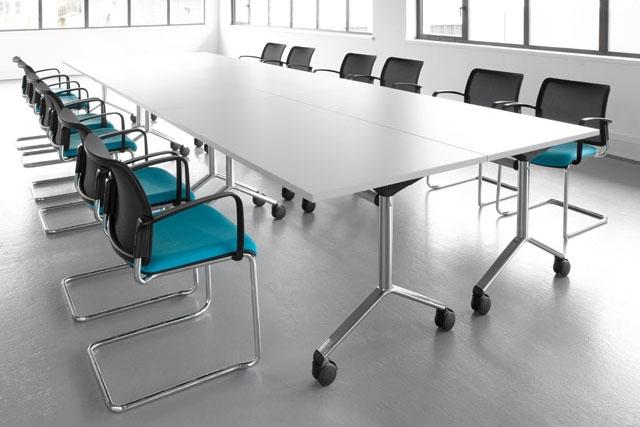 Visual Tilt Top Boardroom Table