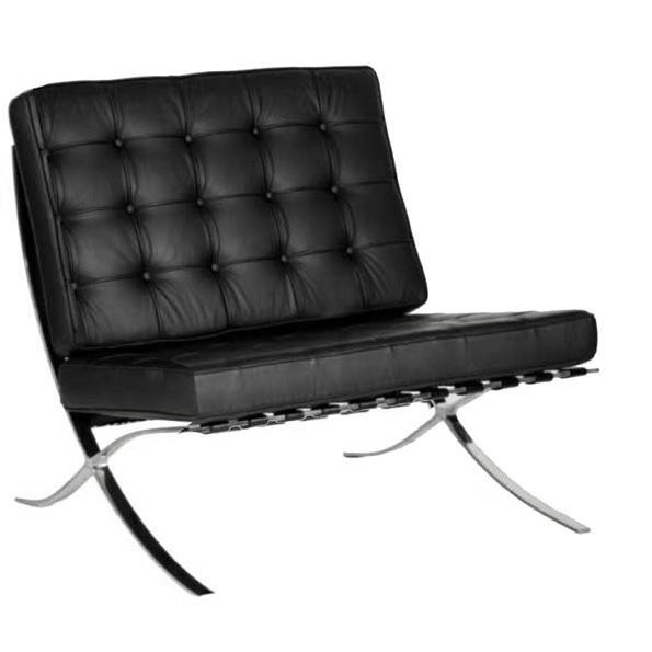 CONTEMPORARY OVERSIZED LEATHER FACED RECEPTION CHAIR - CLASSIC BUTTON DESIGN