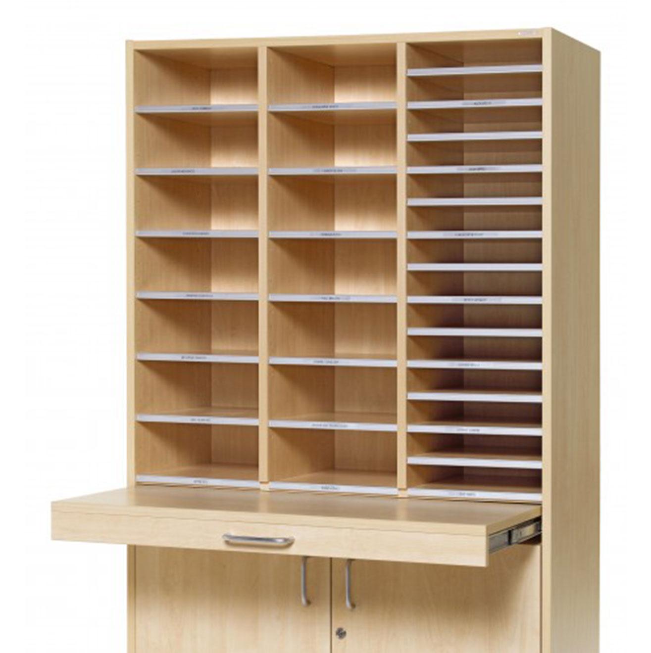 Floor Model - Pigeon Hole Cabinet - Beech