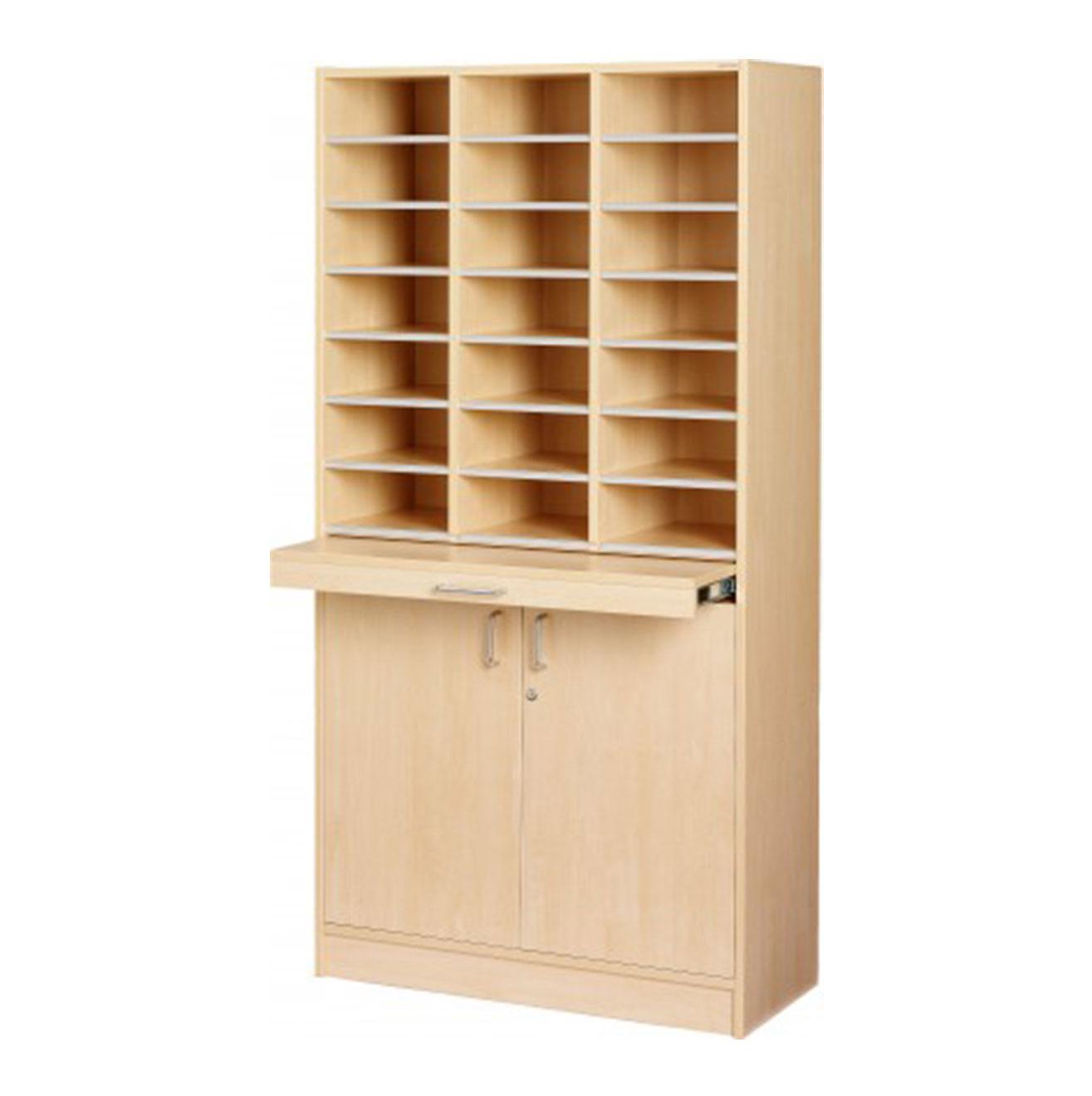 Floor Model - Triple Pigeon Hole Cabinet - Birch