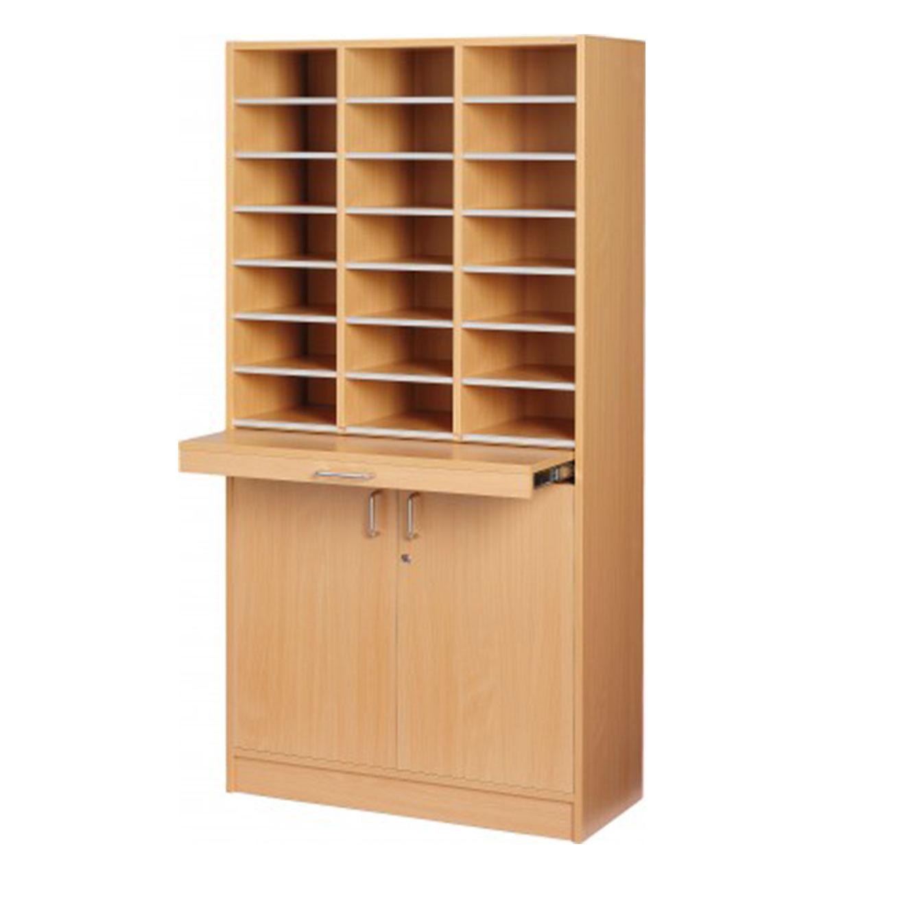Floor Model - Triple Pigeon Hole Cabinet - Beech