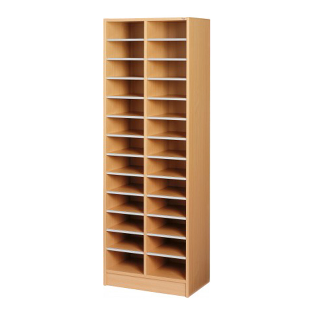 Double Pigeon Hole Cabinet - Beech