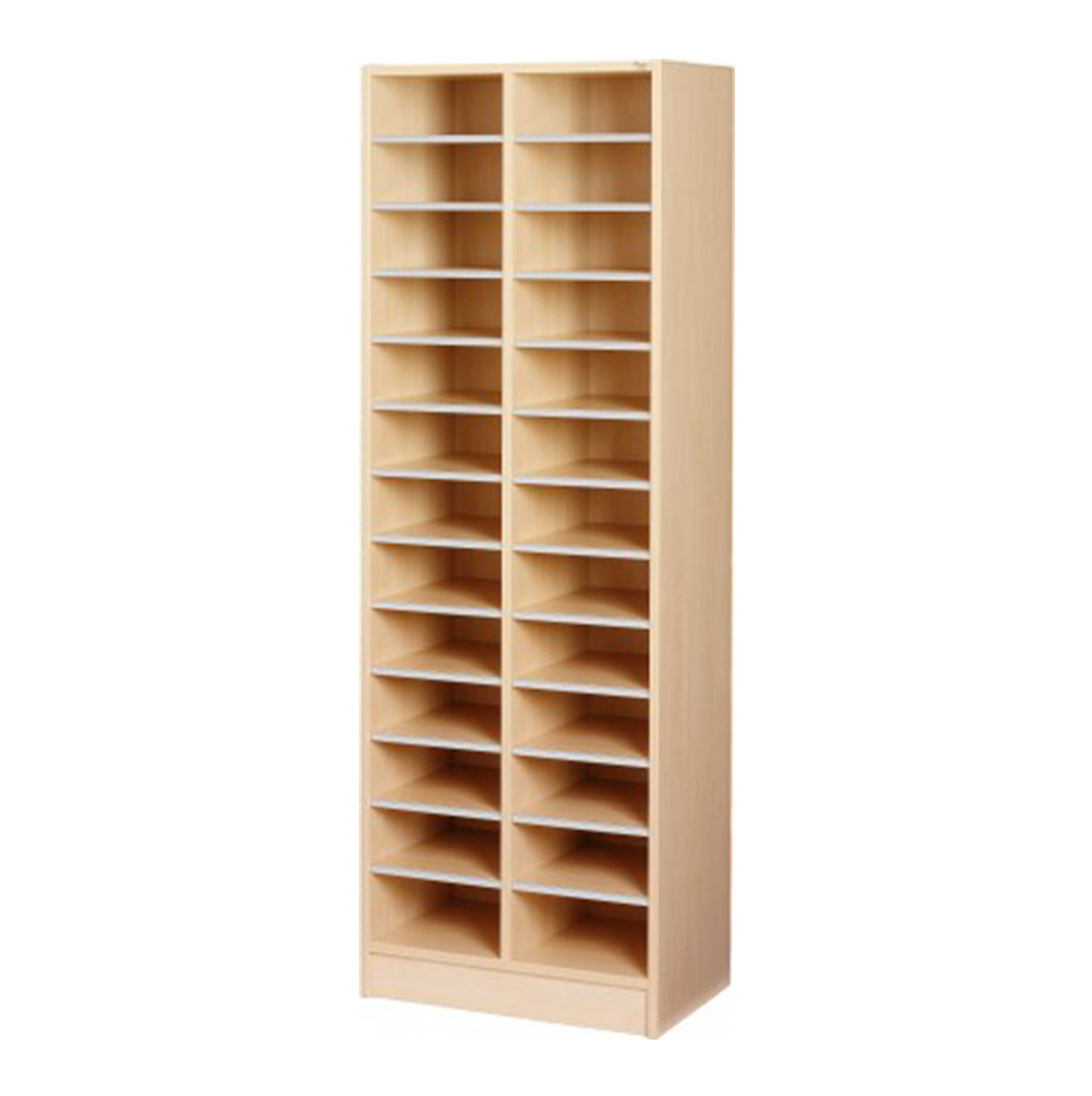 Double Pigeon Hole Cabinet - Birch