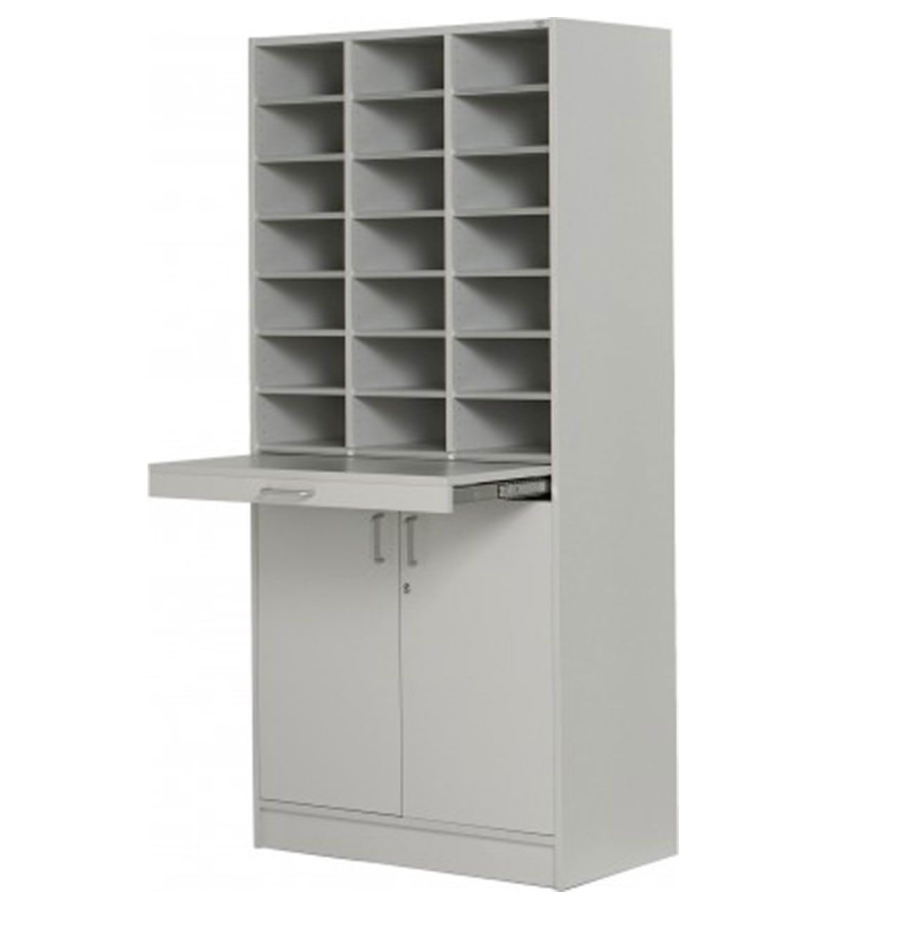 Floor Model - Triple Pigeon Hole Cabinet - Grey