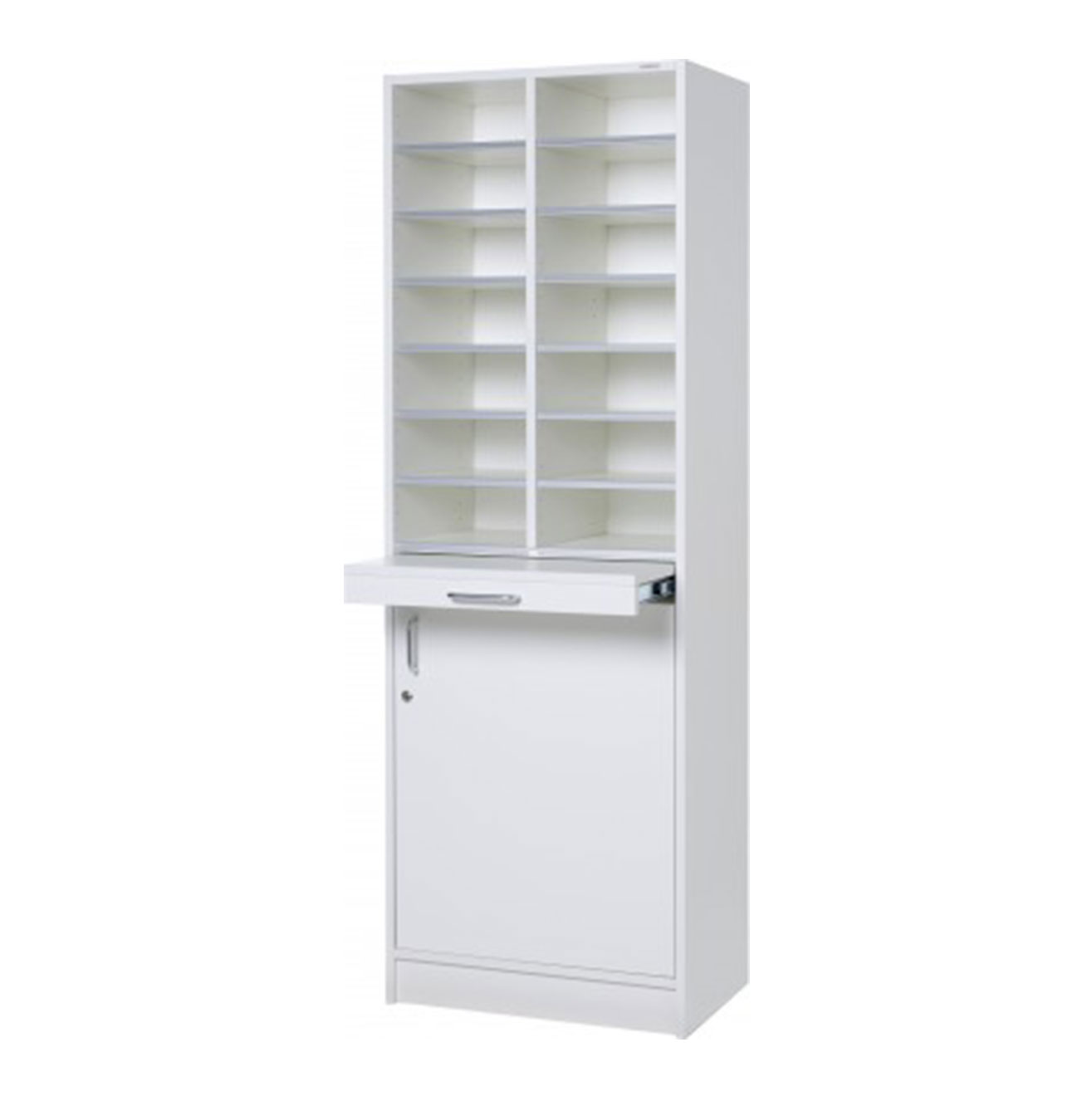 Floor Model - Pigeon Hole Cabinet - White