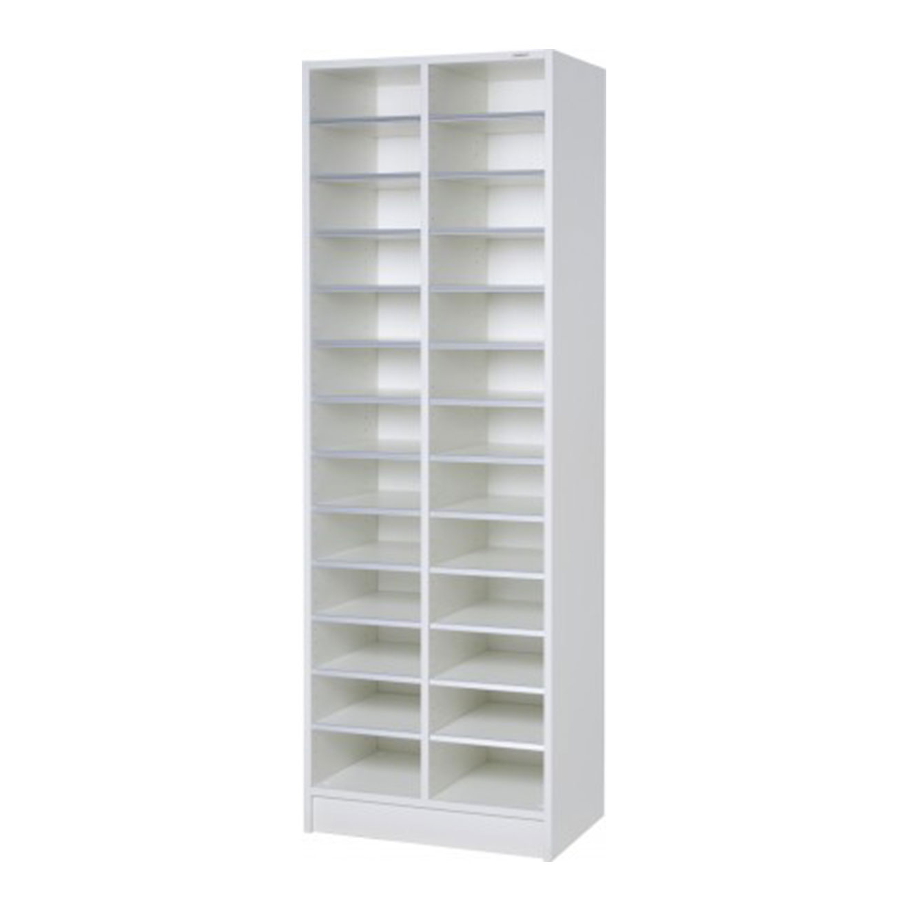 Double Pigeon Hole Cabinet - White