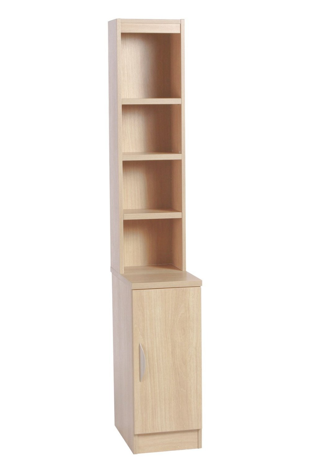 DESK HEIGHT CUPBOARD 300MM WIDE WITH HUTCH