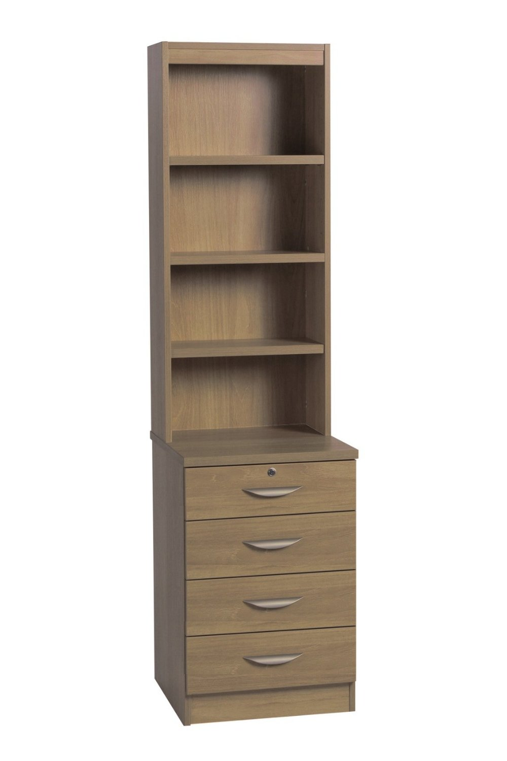 FOUR DRAWER UNIT WITH HUTCH