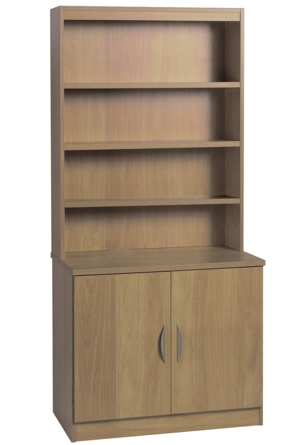 DESK HEIGHT CUPBOARD 850MM WIDE WITH HUTCH
