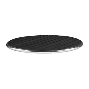 LIKEWOOD BLACK - ROUND TABLE TOP