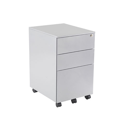 3 DRAWER UNDER DESK STEEL PED