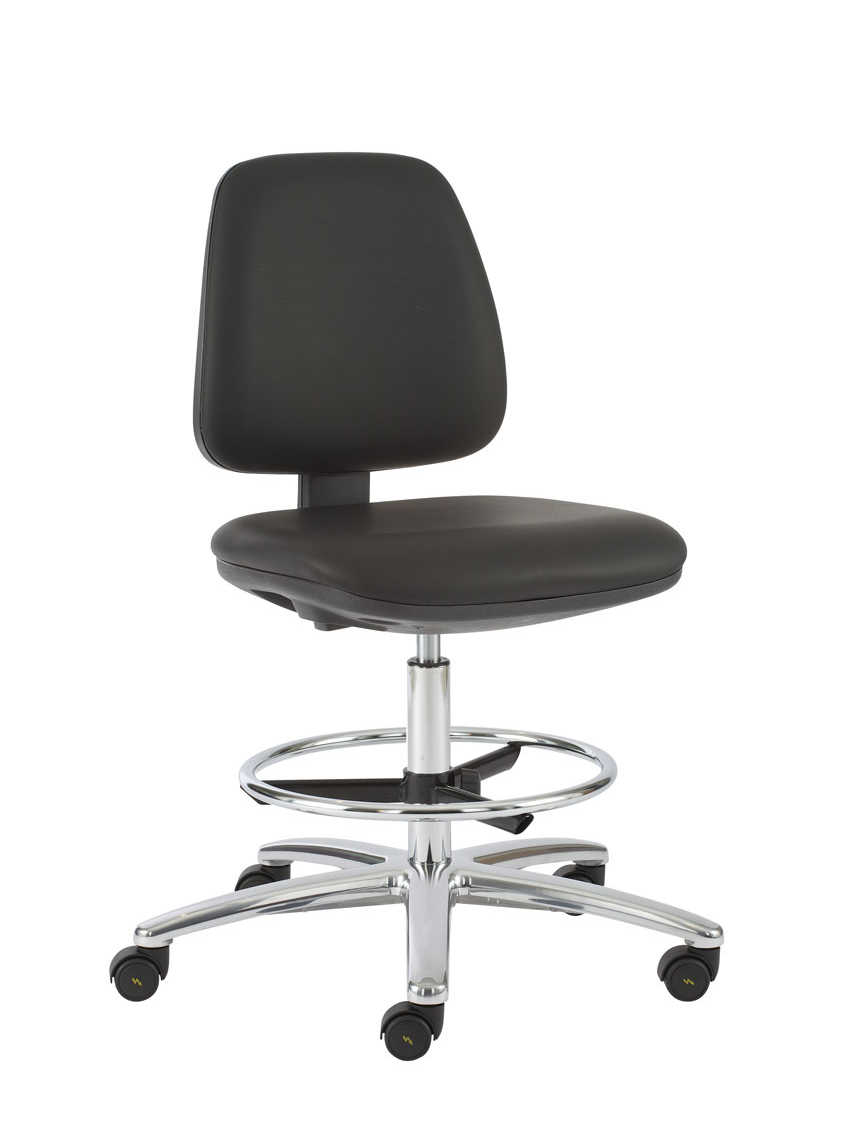 ESD CLEANROOM CHAIR ON ESD GLIDES