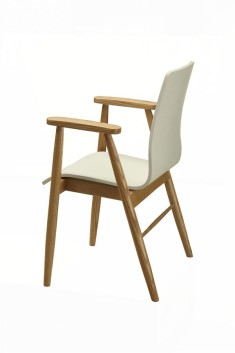 PC707 Arm Chair (White Ash)