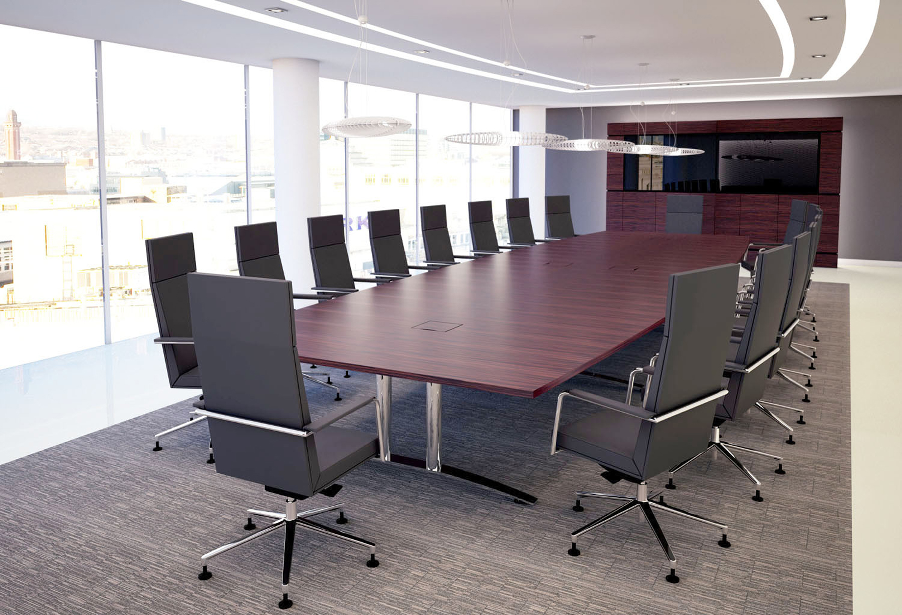 Transcend Barrel shaped boardroom table