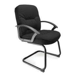 Coniston-C (Black) Office Cantilever Framed Visitors Chair