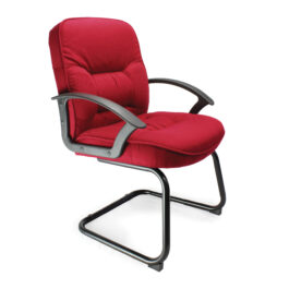 Coniston-C (Wine) Office Cantilever Framed Visitors Chair