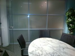 Double Glazed 6mm Sandblasted Glass Office Partition