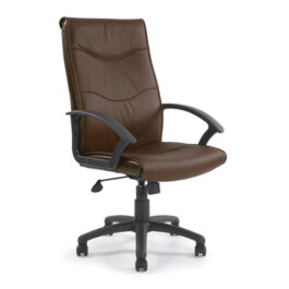 Swithland (Brown) High Back Leather Office Armchair