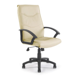 Swithland (Cream) High Back Leather Office Armchair