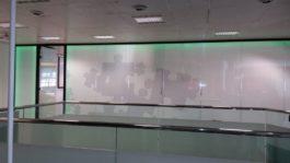 Double Glazed Glass Office Partition Frameless