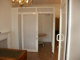 Single Glazed Glass Office Partition With Sliding Doors