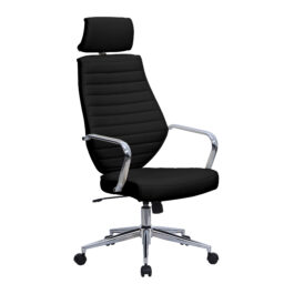 Atlas (Black) Executive Leather Effect Designer Office Chair