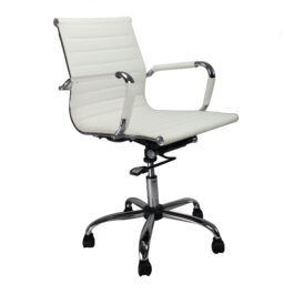 Aura (White) Leather Effect Executive Armchair