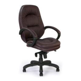 Brighton (Burgundy) Leather Faced Executive Armchair