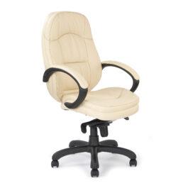 Brighton (Cream) Leather Faced Executive Armchair