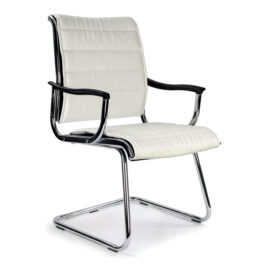 Carbis (White) Visitors Designer Armchair