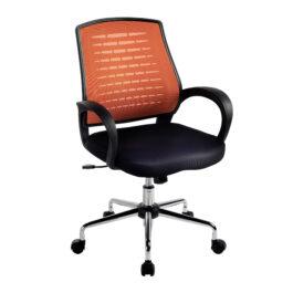 Carousel (Orange) Mesh Back Operator's Chair