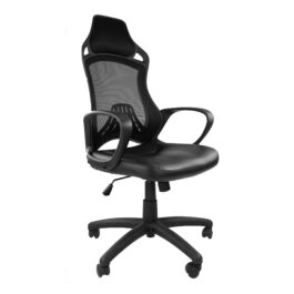 Ascot (Black) Mesh Chair With PU Seat