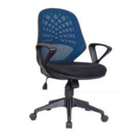 Lattice (Blue) Mesh Back Operator Chair